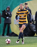 EUGENE, OR - October 15, 2016: Cal Bears Women's Soccer team vs. the Oregon Ducks at Papé Field. Final score, Cal Bears 2, Oregon Ducks 0.
