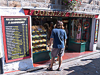 Holidaymakers queuing outside the Cornish Bakehouse St Ives Cornwall..©shoutpictures.com..john@shoutpictures.com