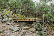 Tent platform at the Perch Shelter located on Perch Path in Cascade  Ravine just off  Randolph Path and Israel Ridge Path  in the Northern Presidential Range, which is located in the White Mountain National Forest of New Hampshire.