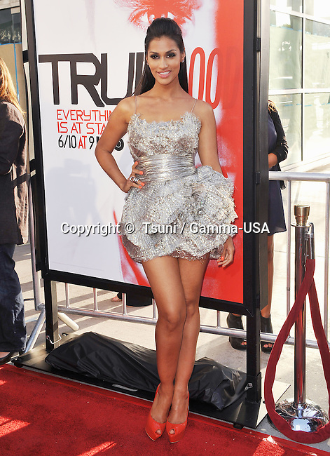 Janina Gavankar  at the True Blood Premiere at the Arclight Theatre in Los Angeles.