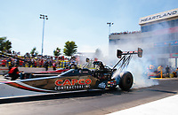 Jun 8, 2019; Topeka, KS, USA; NHRA top fuel driver Billy Torrence during qualifying for the Heartland Nationals at Heartland Motorsports Park. Mandatory Credit: Mark J. Rebilas-USA TODAY Sports