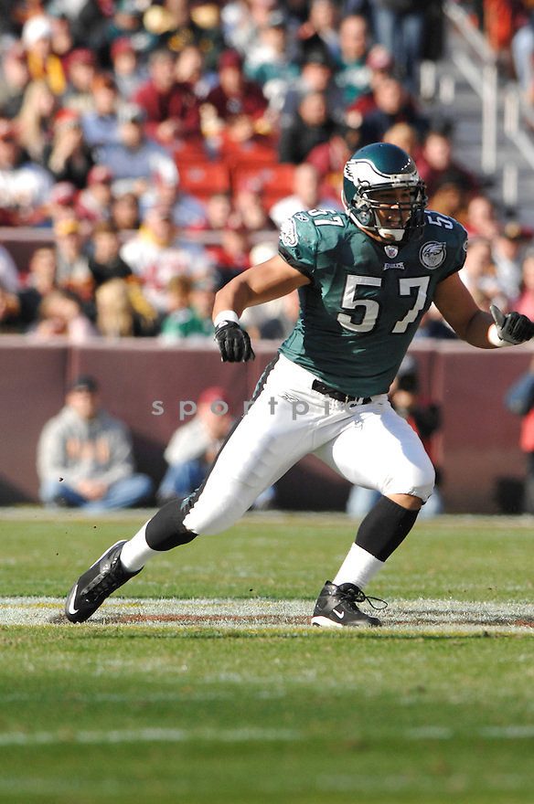 CHRIS COCONG, of the Philadelphia Eagles in action during the Eagles game against the Washington Redskins on November 11, 2007 in Landover, Maryland...Eagles  win 33-25..SportPics