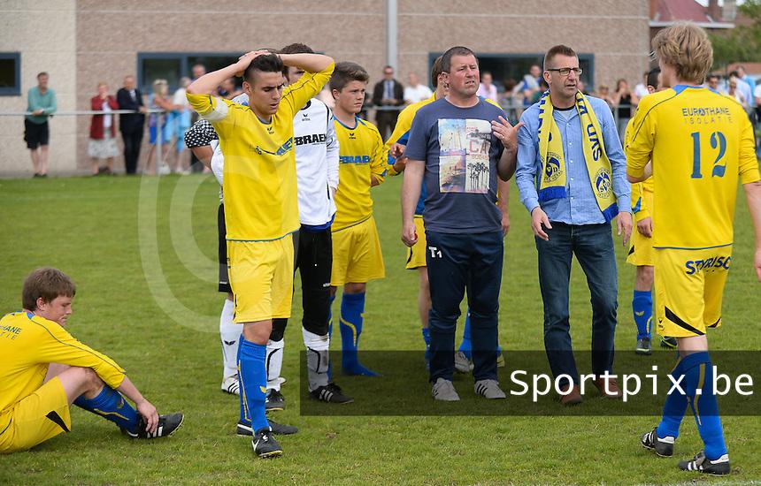 SVD Kortemark - VV Westkapelle : Kortemark blijft ontgoocheld achter na het 0-3 verlies <br /> foto VDB / BART VANDENBROUCKE