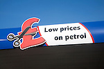 Tesco advert for low prices on petrol, UK