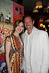 Opening Night of Manipulation and after party at Sardis - Robert Bogue poses with castmate Marina Squerciati (was on Guiding Light and worked with Robert) on June 28, 2011 at the Cherry Lane Theatre, New York City, New York. (Photo by Sue Coflin/Max Photos)