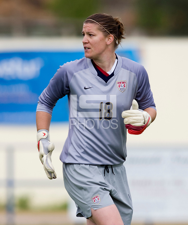 Nicole Barnhart.  The USWNT defeated Iceland, 1-0, at Ferreiras, Portugal.