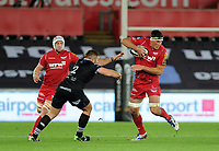 Scarlets' Lewis Rawlins in action during todays match<br /> <br /> Photographer Ashley Crowden/CameraSport<br /> <br /> Guinness Pro14 Round 6 - Ospreys v Scarlets - Saturday 7th October 2017 - Liberty Stadium - Swansea<br /> <br /> World Copyright &copy; 2017 CameraSport. All rights reserved. 43 Linden Ave. Countesthorpe. Leicester. England. LE8 5PG - Tel: +44 (0) 116 277 4147 - admin@camerasport.com - www.camerasport.com