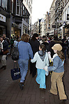 AMSTERDAM - NETHERLANDS - 19 OCTOBER 2004 -- A mother shopping with daughters on the Kalverstraat.-- PHOTO:  EUP-IMAGES / JUHA ROININEN
