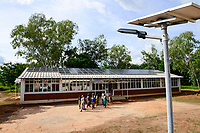 BURKINA FASO, Bobo Dioulasso, agricultural institute CAP-M, office with PV panels