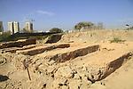 Israel, Tel Aviv, excavations of Tel Qasile, the residential area