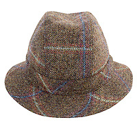 Studio Packshot of ZH092 Mens Tweed Trilby