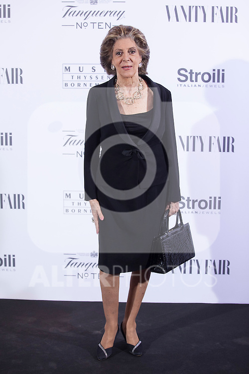 Pitita Ridruejo poses during the 'HUBERT DE GIVENCHY' exhibition inauguration at THYSSEN-BORNEMISZA museum in Madrid, Spain. October 20, 2014. (ALTERPHOTOS/Victor Blanco)