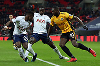 Frank Nouble of Newport County and Serge Aurier of Tottenham Hotspur during Tottenham Hotspur vs Newport County, Emirates FA Cup Football at Wembley Stadium on 7th February 2018