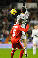 Real Madrid´s Isco and Sevilla's Diego Rosario during 2014-15 La Liga match between Real Madrid and Sevilla at Santiago Bernabeu stadium in Alcorcon, Madrid, Spain. February 04, 2015. (ALTERPHOTOS/Luis Fernandez) /NORTEphoto.com