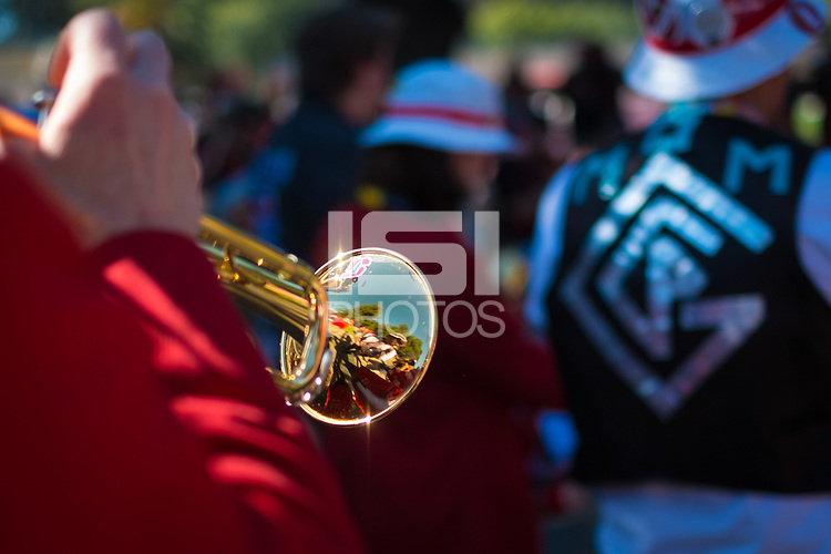 STANFORD, CA - August 31, 2018: Stanford Marching Band at Stanford Stadium. The Stanford Cardinal defeated the San Diego State Aztecs 31-10 in the season opener.