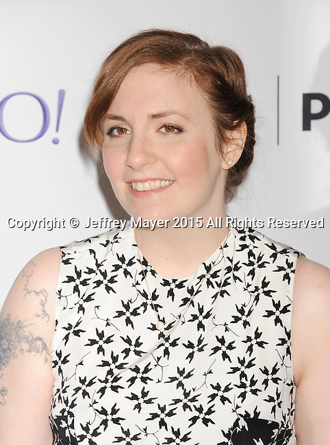 HOLLYWOOD, CA - MARCH 08: Creator/Executive producer Lena Dunham attends The Paley Center For Media's 32nd Annual PALEYFEST LA - 'Girls' at Dolby Theatre on March 8, 2015 in Hollywood, California.