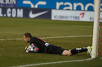 Atletico de Madrid´s Jan Oblak during 2014-15 Spanish King Cup match between Atletico de Madrid and Barcelona at Vicente Calderon stadium in Madrid, Spain. January 28, 2015. (ALTERPHOTOS/Luis Fernandez) /nortephoto.com<br />