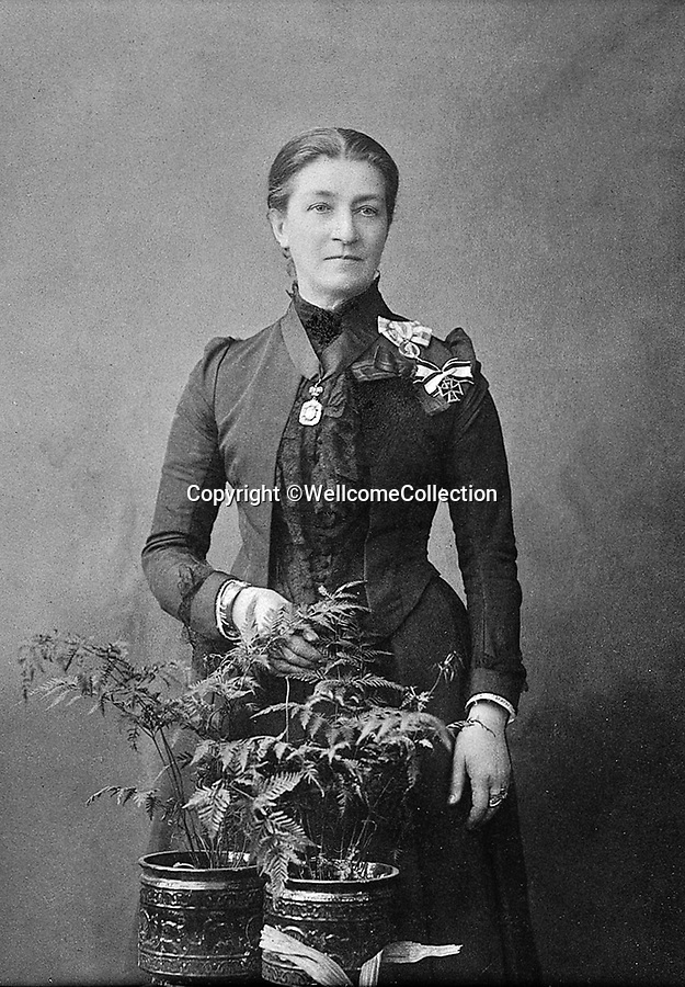 BNPS.co.uk (01202 558833)<br /> Pic: Amberley/BNPS<br /> <br /> Pictured: Florence Sarah Dacre-Craven, the founder of modern district nursing<br /> <br /> These rarely seen photos which provide a fascinating insight into British nursing in late 19th century feature in a new book.<br /> <br /> They reveal how the all-action nurses not only cared for patients but also prepared meals for them and did their laundry.<br /> <br /> Such was their ferocious work ethic, it is perhaps surprising they had time to be pictured sitting down together in the nurses dining room.<br /> <br /> One photo shows trainee nurses during a bandaging class, while another is of a busy male ward.<br /> <br /> The images are published in A History of Nursing, by former nurse Louise Wyatt who has charted the development of nursing from antiquity and the Middle Ages to the present day.