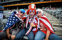 Commerce City, CO - Thursday June 08, 2017: USA supporters during the 2018 FIFA World Cup Qualifying Final Round match versus Trinidad & Tobago at Dick's Sporting Goods Park.