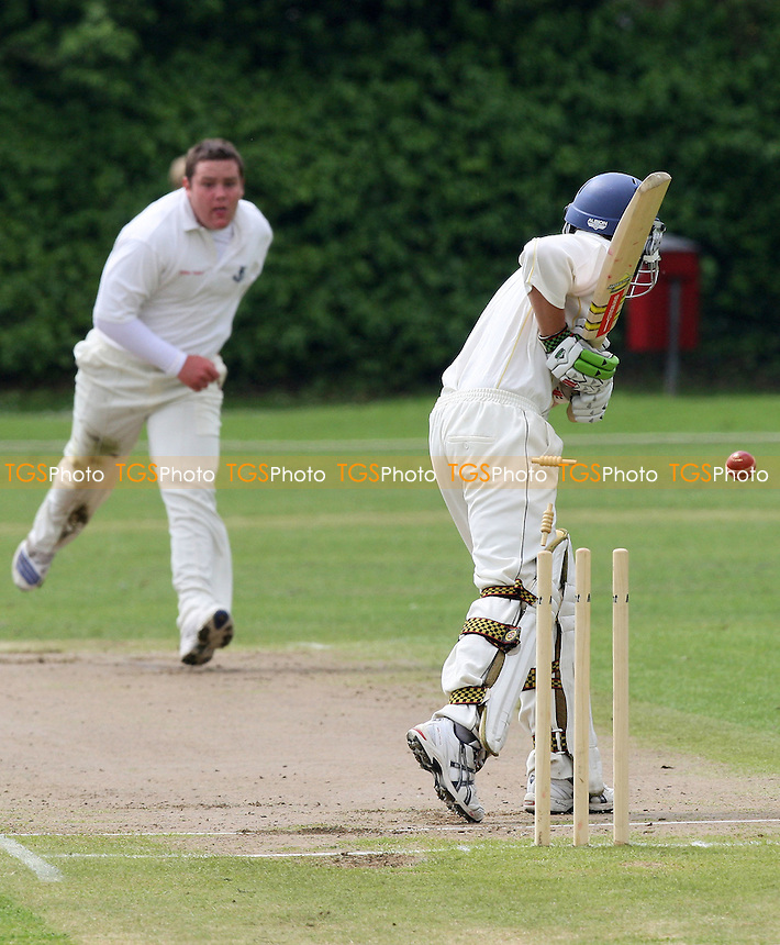 A Ison takes the wicket of GPR batsman C Swainland, clean bowled - Upminster CC vs Gide Park & Romford CC - Essex Cricket League at Upminster Park - 31/05/08 - MANDATORY CREDIT: Gavin Ellis/TGSPHOTO. Self-Billing applies where appropriate. NO UNPAID USE. Tel: 0845 094 6026
