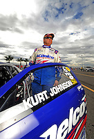 Oct. 31, 2008; Las Vegas, NV, USA: NHRA pro stock driver Kurt Johnson during qualifying for the Las Vegas Nationals at The Strip in Las Vegas. Mandatory Credit: Mark J. Rebilas-