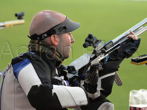 06.08.2012. London, England. Niccolo Campriani of Italy competes in the The Qualification Match of mens 50m rifle 3   London 2012 Olympic Games London Campriani Set A New Olympic Record in The Event
