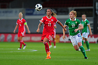 Natasha Harding of Wales in action during the UEFA Womens Euro Qualifier match between Wales and Northern Ireland at Rodney Parade in Newport, Wales, UK. Tuesday 03, September 2019