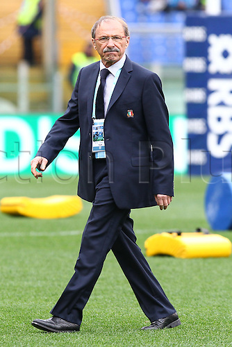 27.02.2016. Stadio Olimpico, Rome, Italy. RBS Six Nations Championships. Italy versus Scotland. BRUNEL JACQUES COACH OF ITALY RUGBY