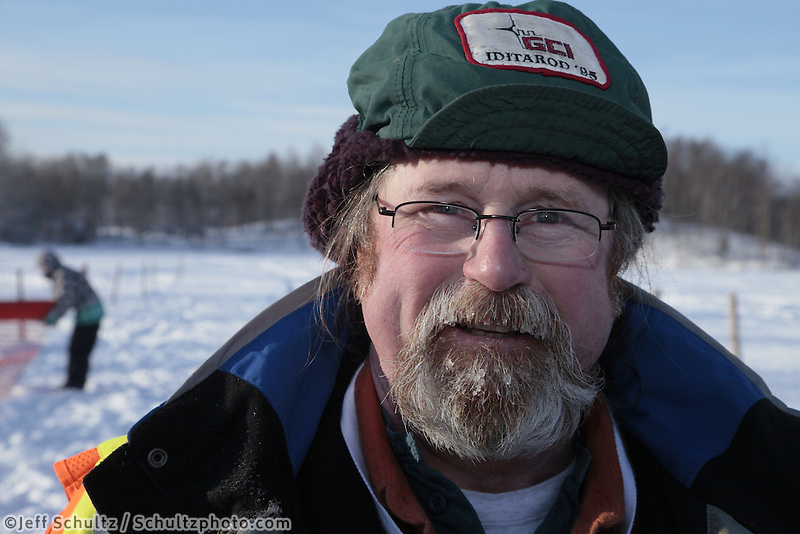Saturday February 25, 2012   at Knik Lake during the Junior Iditarod start.