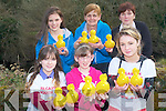 A novel fund-raiser for Kilgarvan Youth Club will take place this Bank Holiday Monday with a duck race down the Roughty River. .Front L-R Trish O'Shea, Danielle Twomey and Karen O'Shea. .Back L-R Siobhan Dillon, Val Tiffin and Kathy Twomey.