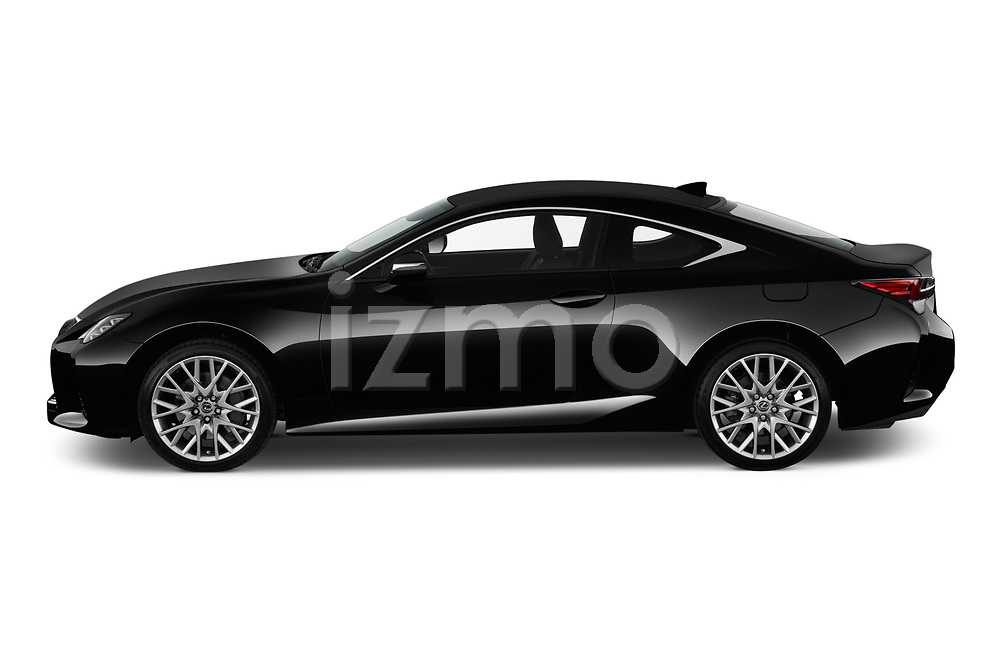 Car driver side profile view of a 2019 Lexus RC RC 300h Executive 2 Door Coupe