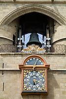 Clock of the Grosse Cloche gate in Saint James street, Bordeaux, France.