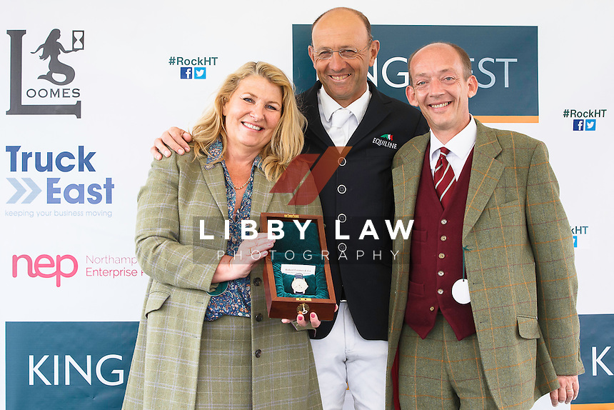 WINNER OF THE ROBERT LOOMES WATCH: AUS-Bill Levett: 2016 GBR-Rockingham International Horse Trial (Sunday 22 May) CREDIT: Libby Law COPYRIGHT: LIBBY LAW PHOTOGRAPHY