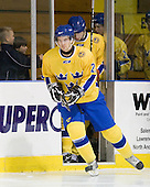 Jonathan Johansson (Sweden - 20) - The Merrimack College Warriors defeated the visiting Sweden Under 20 team 4-1 on Tuesday, November 2, 2010, at Lawler Arena in North Andover, Massachusetts.