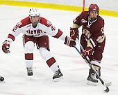 Brendan Rempel (Harvard - 42), Chris Kreider (BC - 19) - The Boston College Eagles defeated the Harvard University Crimson 3-2 on Wednesday, December 9, 2009, at Bright Hockey Center in Cambridge, Massachusetts.