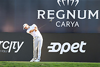 Jason Scrivener (AUS) tees off the 18th tee during Friday's Round 2 of the 2018 Turkish Airlines Open hosted by Regnum Carya Golf &amp; Spa Resort, Antalya, Turkey. 2nd November 2018.<br /> Picture: Eoin Clarke | Golffile<br /> <br /> <br /> All photos usage must carry mandatory copyright credit (&copy; Golffile | Eoin Clarke)