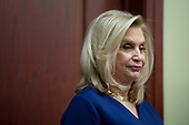 United States Representative Carolyn Maloney (Democrat of New York) listens during a press conference on International Holocaust Remembrance Day at the United States Capitol in Washington D.C., U.S., on Monday, January 27, 2020.<br />  <br /> Credit: Stefani Reynolds / CNP