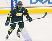 Mario Puskarich (UVM - 21) - The visiting University of Vermont Catamounts tied the Boston College Eagles 2-2 on Saturday, February 18, 2017, Boston College's senior night at Kelley Rink in Conte Forum in Chestnut Hill, Massachusetts.Vermont and BC tied 2-2 on Saturday, February 18, 2017, Boston College's senior night at Kelley Rink in Conte Forum in Chestnut Hill, Massachusetts.