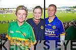 Siobhan O'Mahony, Colette Hussey, Glen Hussey at the Senior County Hurling final, Lixnaw V Kilmoyley at Austin Stack Park on Sunday