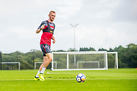 Wednesday 26 July 2017<br /> Pictured: Olie McBernine in action during training <br /> Re: Swansea City FC Training session takes place at the Fairwood Training Ground, Swansea, Wales, UK