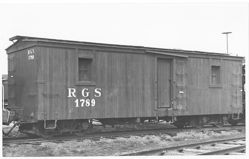 RGS outfit car #01789 at Colorado Railroad Museum.<br /> RGS  Golden, CO  Taken by Maxwell, John W. - 4/9/1961
