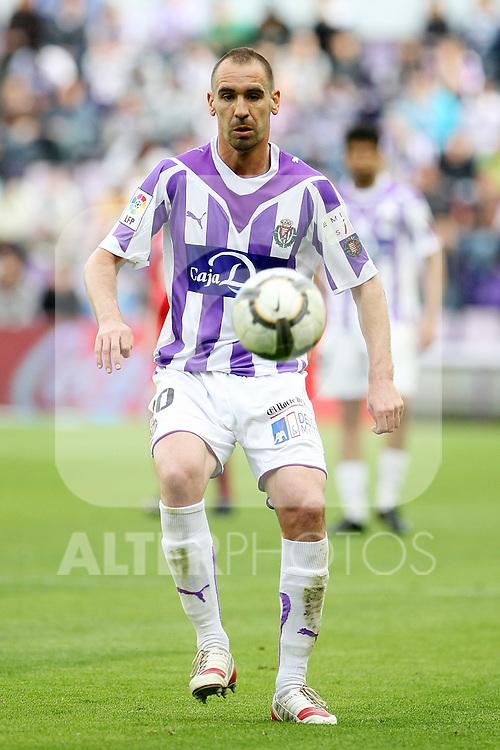 Real Valladolid's Borja Fernandez during La Liga match. May 1, 2010. (ALTERPHOTOS/Acero)
