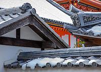 Kyoto City,  Japan<br /> Kiyomizu Temple, pagoda style roofline details