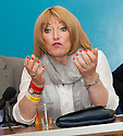 Boxing promoter Kellie Maloney at the press conference to announce current English Heavyweight title holder, John McDermott as Gary Cornish's next opponent.