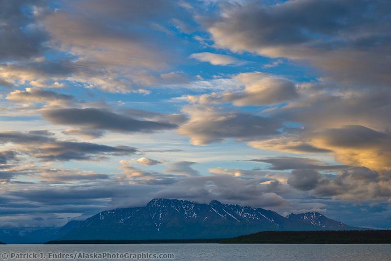 Mount Katolinat, Aleutian mountains, Naknek lake, Katmai National park, Alaska.