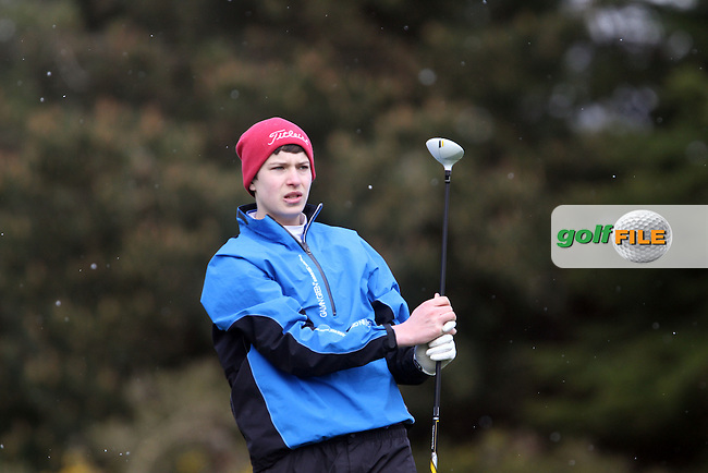 Simon Irwin (Holywood) on the 10th tee during the Leinster Youths Amateur Open Championship in the European Club, Brittas Bay, Co.Wicklow. 26/3/13..(Photo Jenny Matthews/www.golffile.ie)