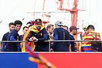 League Santander 2017/2018.<br /> Rua de Campions FC Barcelona.<br /> Carles Ale&ntilde;a &amp; Gerard Pique.