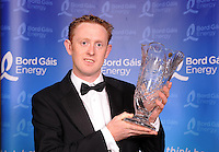 Colm The Gooch Cooper from Killarney, County Kerry who received the Senior Footballer of the Year award award at the annual Bord Gais Energy  / Munster GAA Awards in the Malton Hotel, Killarney at the weekend.<br /> Picture by Don MacMonagle<br /> <br /> free pr photo