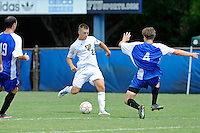 2 October 2011:  FIU forward Quentin Albrecht (22) attempts to kick a goal in the second half as the FIU Golden Panthers defeated the University of Kentucky Wildcats, 1-0 in overtime, at University Park Stadium in Miami, Florida.