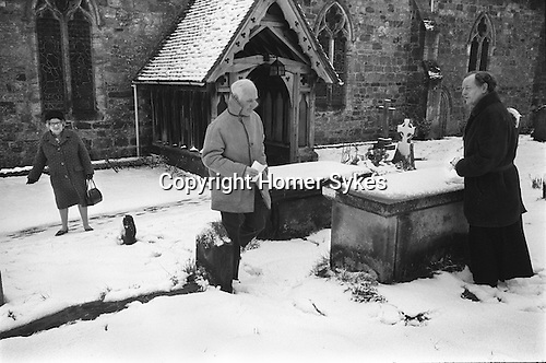 Hartfield Dole, Nicholas Smith bequest. Easter Good Friday at the Church of St Mary the Virgin Hartfield Sussex Uk 1975.  <br />